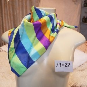 Accessories - Vintage 1960s 70s striped scarf